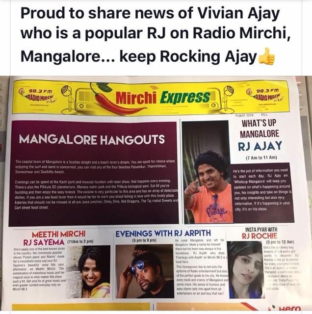 Congratulation Ajay…. Making Vivian's Proud